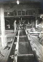 At the gold treating factory